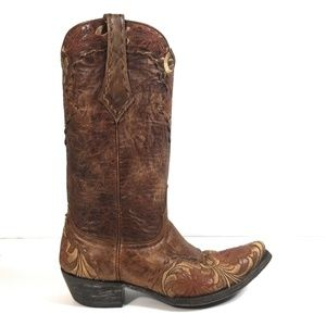 Old Gringo Women Rustic Brown Floral Boots 8 B